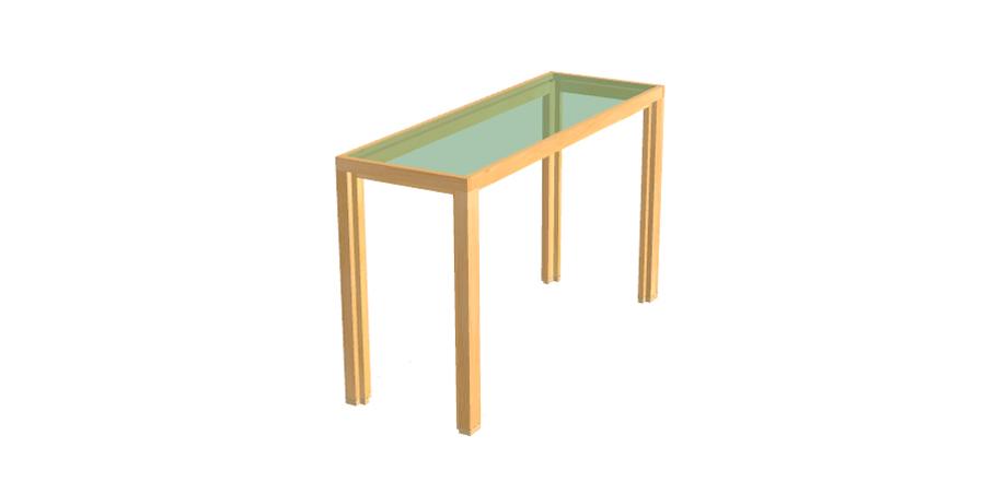 alvari sideboard aus kiefernholz mit glasplatte. Black Bedroom Furniture Sets. Home Design Ideas